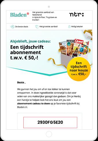 Bladen.nl cadeaubon