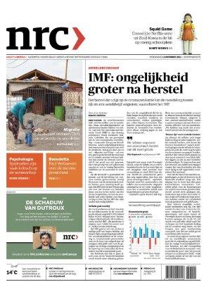 Cover van de krant NRC Handelsbad