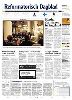 Abonnement en aanbieding op het dagblad Reformatorisch Dagblad